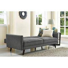 better homes and gardens rowan linen futon grey better homes and gardens rowan linen futon grey   linens dream      rh   pinterest