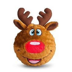 Holiday Reindeer Faball by FabDog - This is the perfect toy for the dog who just can't decide between plushies and nubbly balls. This holiday Faball is squeaky, bouncy, spiky TPR balls, all wrapped up in plush cotton. Pet Steps, Dog Boutique, Pet Paws, Dog Carrier, Dog Hoodie, Christmas Dog, Dog Accessories, Dog Design, Dog Toys