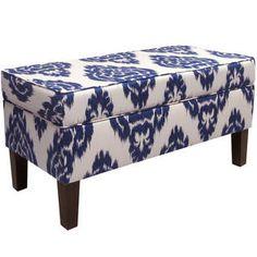 Skyline Furniture Diamond Blue Storage Bench