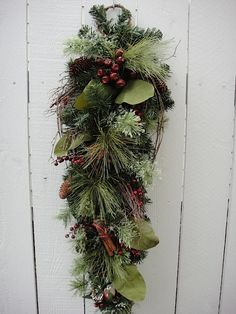 Holiday Swag by donnahubbard on Etsy, $25.00