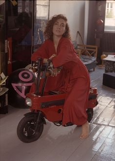 Victoria Lafaurie // Director and Illustrator wears the Passion Red Kimono - Dress.