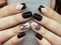Incredible Combo French Tip Nails And Mandala Art ❤️Mandala nail art is intricate, popular and Bohemian that is why we invite you to have a closer look at our mandala nails designs collection!❤️ See more: naildesignsjourna. Hot Nails, Swag Nails, Pink Nails, Hair And Nails, Lace Nails, Mandala Nails, Pretty Nail Art, French Tip Nails, Nail French
