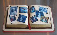 photo album cake