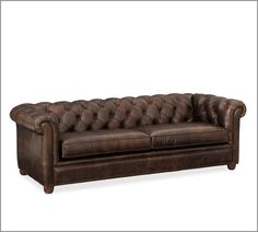 Chesterfield Leather Sofa | Pottery Barn - again, I wish