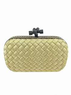6ca7db9c3931 Bottega Veneta Knot Intrecciato Satin Snakeskin Clutch NEW  bottegaveneta   purseporn  bagporn  clutch · Yellow HandbagLuxury ...