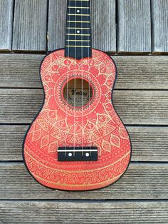I want to buy this but I don't know... comment below?! there's only one left.  Custom Design/Doodle on Ukulele by CoralFlamingo on Etsy