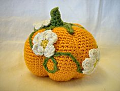pretty+crochet | Pretty Crocheted Pumpkin