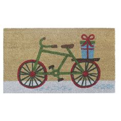 I need this in my life!  Threshold Snowy Bike Doormat
