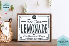 Free Design Resources, Free Svg, Lemonade Sign, Freebies, Sign Maker, Free Summer, Pattern And Decoration, Cookies Et Biscuits, Journal Cards