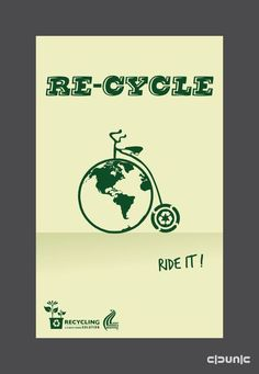 Recycle Poster on Behance Food Graphic Design, Graphic Design Illustration, Logo Design, Poster On, Poster Prints, Wwf Poster, Poster Ideas, Global Warming Poster, Recycling Projects For Kids