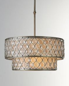 """Lucia"" Double Chandelier at Horchow."