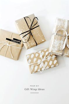 Get in the holiday spirit! As you're buying gifts, add a personal touch with Unique 50 Christmas gift wrapping ideas! Upcycled Kraft Paper Gift Wrapping Ideas From: The Found and The Fancy How to P… Diy Holiday Gifts, Diy Gifts, Handmade Gifts, Creative Christmas Gifts, Creative Gift Wrapping, Creative Gifts, Diy Wrapping, Simple Gift Wrapping Ideas, Gift Wrapping Ideas For Birthdays