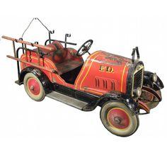 1927 Gendron Fire Truck Kids Pedal Car - Showtime Auction Services