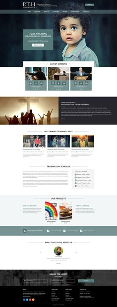 Church religious organization Web design on Behance