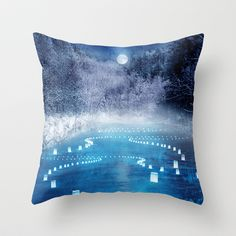 lights in winter Throw Pillow by Viviana González - $20.00