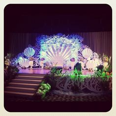 Under the sea themed Pelamin #Pelamin #wedding #stage #backdrop  (Taken with Instagram)