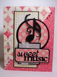 cricut quarter note cards I would love this with other colors as well Music Greeting Cards, Musical Cards, Homemade Birthday Cards, Step Cards, Decorative Paper, Cricut Cards, Wedding Scrapbook, Cricut Creations, Paper Decorations