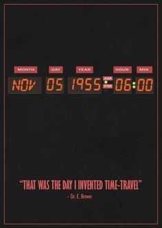 Back To The Future Movie Poster design - David Ramsbottom