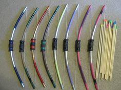 pvc pipes, doll rods, eraser tips, foam handles