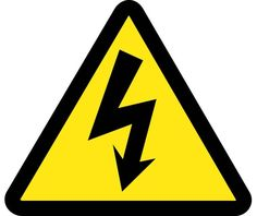 Label, GRAPHIC FOR ELECTRIC VOLTAGE HAZARD, 2IN DIA, PS Vinyl