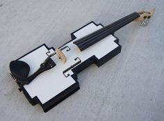 8 bit MIDI violin - Electric Violin Lutherie -- The geek in me wants this very badly Violin Art, Violin Music, Cool Violins, Electric Violin, Violin Lessons, Music Lessons, 8 Bit, Playing Guitar, Guitars
