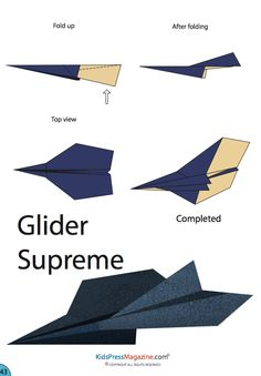Glide into fun with this free, printable paper airplane template! Origami and paper airplane folding is great for building dexterity as well - Rainy Day Kid Crafts - Paper Airplane Steps, Paper Airplane Folding, Origami Paper Plane, Origami Airplane, Paper Airplane Models, Airplane Crafts, Paper Crafts Origami, Paper Models, Paper Planes