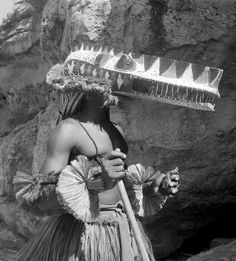 Africa | Masquerader in the Ivory Coast. ca. 1950/60s | Photographer Bohumil Holas