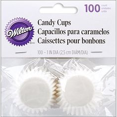 Wilton Candy Cups Coated Glassine 1Inch White 100Pack >>> Visit the image link more details. (This is an affiliate link) #BakingCups