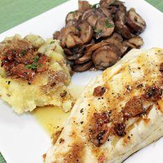... Vinaigrette, Red Smashed Potatoes & Sautéed Butter-Thyme Mushrooms