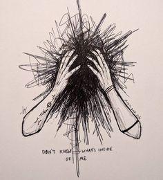 Pin on Dessin basket Sad Drawings, Dark Art Drawings, Pencil Art Drawings, Art Drawings Sketches, Vent Art, Arte Obscura, Arte Sketchbook, Sad Art, Aesthetic Art