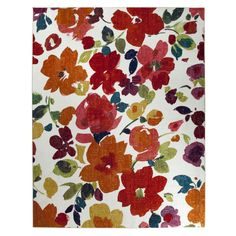 Bright Floral Toss Multi Rug (8' x 10') - Overstock Shopping - Great Deals on Mohawk Home 7x9 - 10x14 Rugs