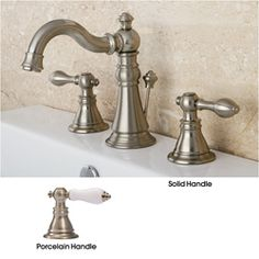American Patriot Satin Nickel Widespread Bathroom Faucet | Overstock.com Shopping - The Best Deals on Bathroom Faucets