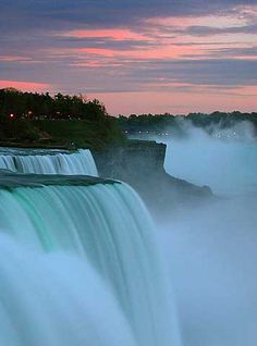 Niagra Falls...everyone should see this at least once in a lifetime.  Breathtaking!