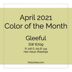 April 2021 Color of the Month & Energy Reading. What happens when we free ourselves of the rush to begin something new, to do more?