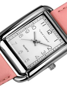 Women's Stainless Steel & Pink Leather Wrap Watch by Vernier Watches at Gilt $30 GILT.com