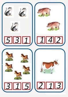 * Tellen boerderijdieren! 3-5