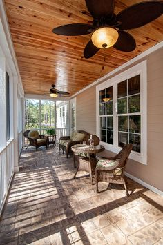 Screened porch from The Lennon, Plan 1300. Spring is coming! A #Screened #Porch is the perfect way to enjoy the nice weather. http://www.dongardner.com/images.aspx?pid=4411&fn=exteriors%5c1300ScreenPorch3.jpg