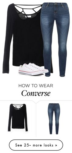 """Untitled #2531"" by laurenatria11 on Polyvore featuring JunaRose and Converse"