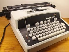 I learned to type on an IBM Selectric. I could type 60 words a minute back then. Plenty of girls in typing class.