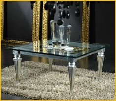 Mesa de centro de vidrio de estilo clásico LUXOR