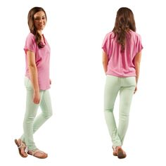 Everyone needs a little mint in their closet this spring! These denim skinnies are only $29 and SO soft and comfy!