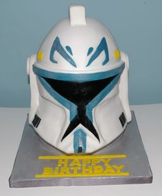 Starwars clone wars Captain Rex cake.