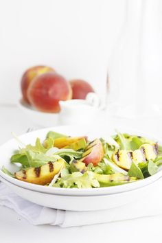 Grilled Peach and Avocado Summer Salad #recipe