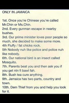 Only in Jamaica lmao sooooo true not even funny