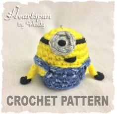 CROCHET PATTERN for Minion EOS Lip Balm Holder by HeartspunByWendy, $2.99