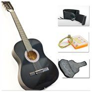 New Beginners Acoustic Guitar With Guitar Case, Strap, Tuner and Pick Black - $34.95