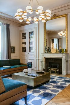 elegant and dramatic interior design ideas by Gerard Faivre Paris 15