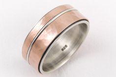 Mens gold wedding ring - 14k gold ring,silver gold ring,yellow gold,rose gold,rustic ring,mens engagement ring,anniversary ring,mens ring