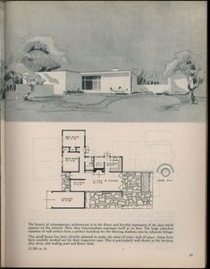 Houses for homemakers Vintage House Plans, Modern House Plans, House Floor Plans, Vintage Homes, Sims House Design, Modern Mansion, House Drawing, House Blueprints, Architecture Drawings