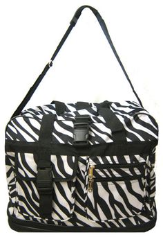 Zebra Print Expandable Rolling Travel Bag | ChickSaddlery.com